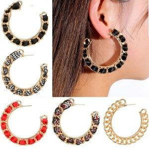 Chain Link Hoops Hoop Earrings
